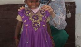 There is always great joy, here is Marika with one of the girls.