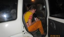 Throughout the travel Katrin meticulously keeps the accounts on the expenses for the projects.