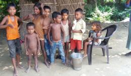 The children of the leprosy affected families suffer the same fate of being excluded.