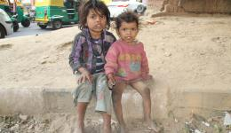 Many children are living there with their families. Some are orphans or half orphans. Here Maju and Sita.