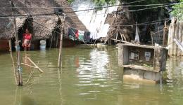 For the very poor people the flood is a catastrophy as the few belongings they have are under water inside.