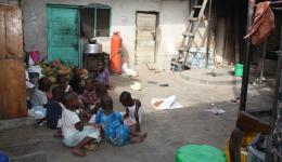 Ein muslimisches Kinderheim - hier leben 65 Kinder unter einfachsten Bedingungen