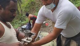 Reparatur einer Wasserleitung