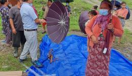 Regenschirme vor der Regenzeit