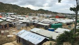An overview. The camps are so big that it takes almost one hour by car to pass them all ...
