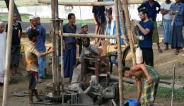 All concerned hope that the drilling of the fresh water wells will be successful.