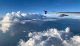 Ein entspannter Flug mit max. 40 Personen in der Kabine, bei > 200 Kapazität...