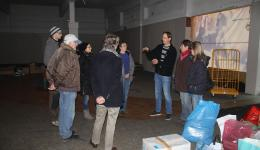 """Briefing"" for the big packing action January 19th,  2015. All donatitions of kind are being packed  on pallets."