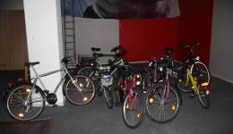 The donated bycicles are ready to be picked up  an given to the Refuges in Bamberg.