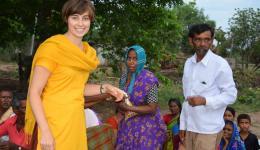 Fenja distributing the precious items.