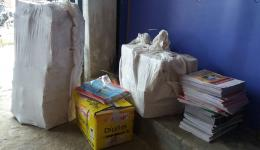 The material is delivered to the villages...