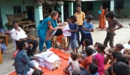 "For the children it is like ""Christmas"" when they are handed over the clothes by Claudia and Katrin."