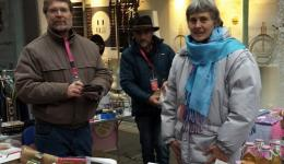 Elisabeth, Hans Werner, Wilhelm, Don, Ute, Edeltrut, Gaby and Helga helped at the flea market in Bad Kreuznach on December 15.