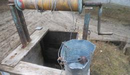 Everywhere in the city and in the country there are working wells, many of which are in regular use.