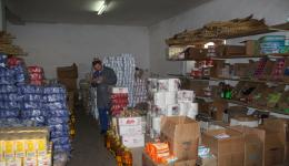 At the goods issue the purchased goods are received. Here is a look into the warehouse.