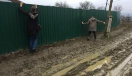 "Sometimes you can do ""skiing"" on the mud. Creative approaches are required. Raeggy and Alexandra ..."