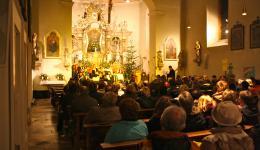 Parish church of St. Laurentius in Lauter, Dec. 18, 2011