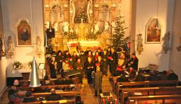 Parish church of St. Laurentius in Lauter, Dec. 18, 2011